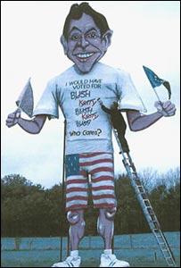 Tony Blair effigy