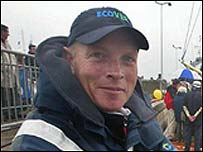 Mike Golding, patrón de la regata vuelta al mundo en solitario.