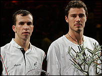 Radek Stepanek (left) and Marat Safin (right)