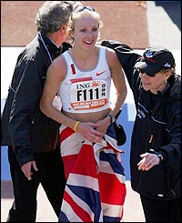 Paula Radcliffe jubilates