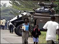 Tanque del ejército marfileño.