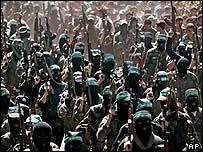 Hamas gunmen in Gaza