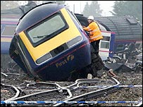 Berkshire train crash aftermath