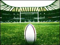 Twickenham rugby ground, BBC