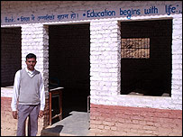 School principal Sri Krishna Bhushal