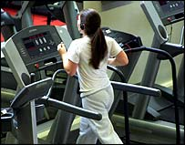 Image of a jogger on the treadmill