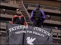 Fathers 4 Justice protest at Liverpool Crown Court