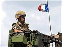 French tank in Ivory Coast
