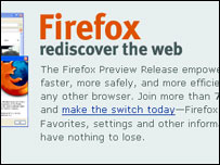Screengrab of Firefox homepage, Mozilla Foundation