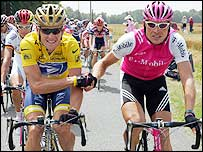 Lance Armstrong (left) has consistently beaten Jan Ullrich into second in the Tour de France