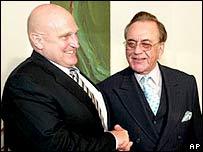 Richard Armitage with Khursheed Mehmood Kasuri