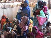 Women in Otash refugee camp near Nyala in Darfur, Sudan