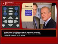 Demo clip of Comcast's new on-demand service