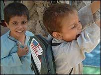 Children in a village in Khost
