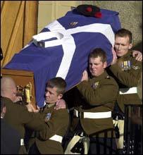 Pte McHale's coffin