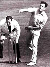 England's Jim Laker finished with amazing match figures of 19-90