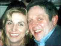 Graham Huckerby with his ex-partner Luci Roper