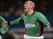 Darren Lockhart had a tremendous game for Glentoran