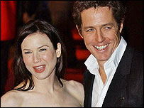 Renee Zellweger and Hugh Grant at the UK premiere