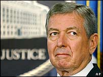 US Attorney General John Ashcroft. Archive picture