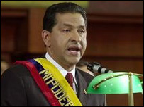 Presidente de Ecuador, Lucio Gutiérrez.