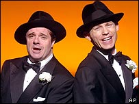 Nathan Lane (left) and Lee Evans in The Producers