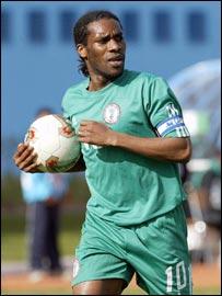 Nigeria's captain Jay-Jay Okocha