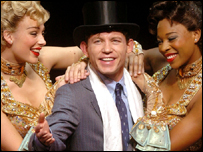 Lee Evans and dancers in The Producers