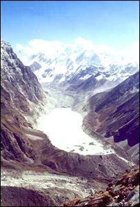 Glacial lake, Navin Singh Khadka