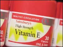 Image of vitamin E supplements