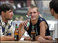 Russian beer drinkers