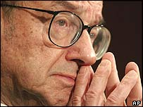 US Federal Reserve chairman Alan Greenspan
