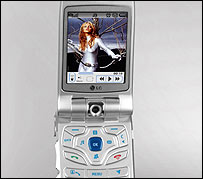 Britney Spears on an LG phone by 3