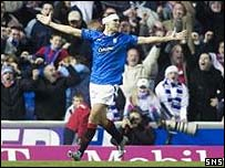 Dado Prso celebrates at Ibrox