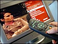 Interactive TV mock-up