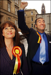 Tommy Sheridan and his wife Gail, who is expecting their first child