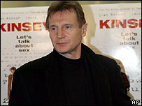 Liam Neeson at Kinsey premiere