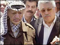 Mahmoud Abbas con Yasser Arafat