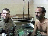 US soldier with Iraqi hostage
