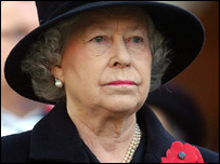 The Queen led the nation in a two-minute silence