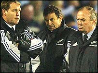 Steve Hansen, Wayne Smith and Graham Henry