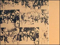 Andy Warhol's Mustard Race Riot, 1963