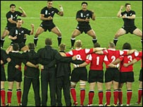 Wales face the Haka