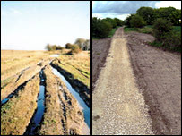 Ridgeway before and after