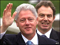 Bill Clinton (left) and Tony Blair