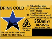 The new label on bottles of Newcastle Brown Ale