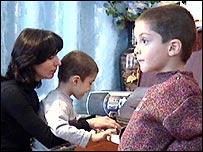 David, Georgy and their teacher