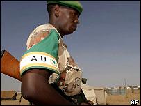 AU soldier in Darfur, Sudan