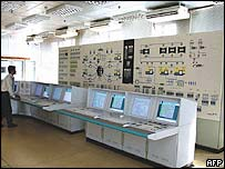 The main control room at Iran's nuclear reactor at Bushehr