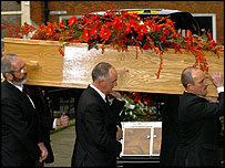 John Peel's coffin